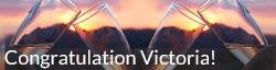 Congratulations victoria